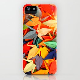 Senbazuru rainbow iPhone Case