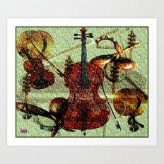 Mint Strings Art Print