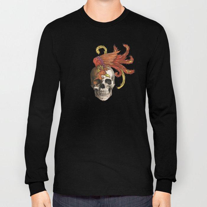 Skull and Phoenix Long Sleeve T-shirt