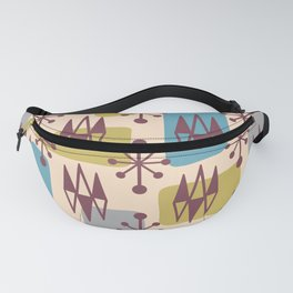 Mid Century Modern Abstract Atomic Diamonds 424 Fanny Pack