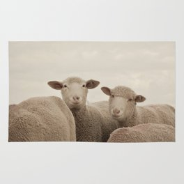 Smiling Sheep  Rug