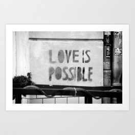 Love is possible - Berlin stencil Art Print