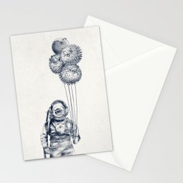 Balloon Fish - monochrome option Stationery Cards