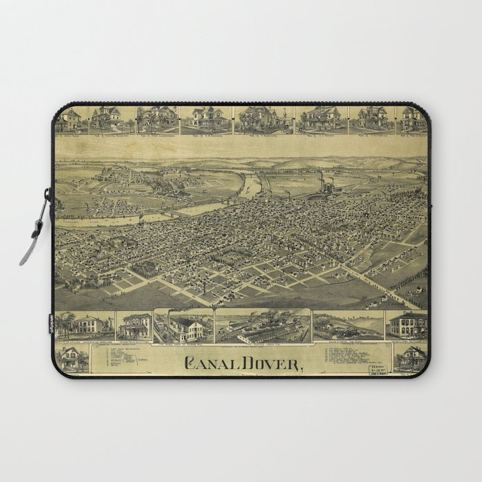 Aerial View of Canal Dover, Ohio (1899) Laptop Sleeve