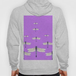 GAUZY WINGED DRAGONFLIES ON LILAC Hoody