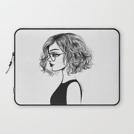 Girl with glasses Laptop Sleeve
