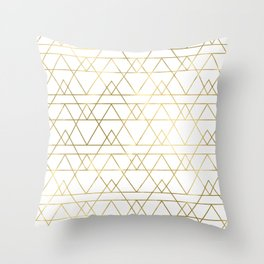 Modern Gold Throw Pillow