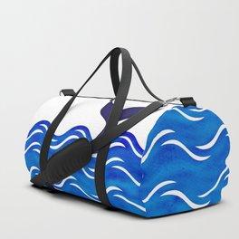 Blue Whale Tail Duffle Bag