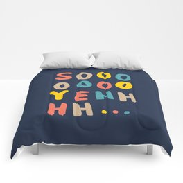 So Yeh pink blue and yellow graphic design typography poster bedroom wall home decor Comforters