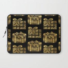 Golden Christmas Present Decor Laptop Sleeve