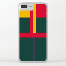 vintage, pattern, primary, colors, Clear iPhone Case