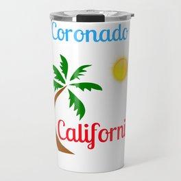 Coronado California Palm Tree and Sun Travel Mug