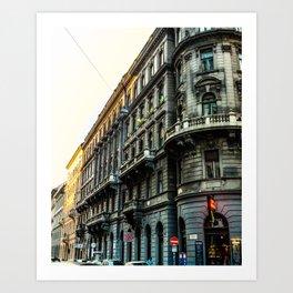 Budapest Building Art Print