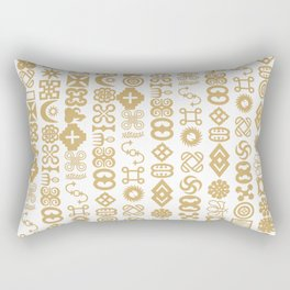 All Adinkra Symbols  Rectangular Pillow
