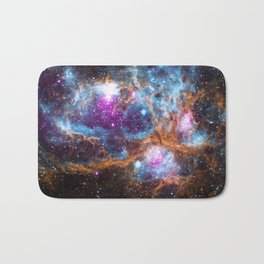 Nebula | Universe | Galaxies | Goddess | God | Stardust Bath Mat