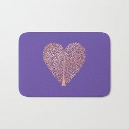 Rose Gold Foil Tree of Life Heart Bath Mat