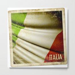 Grunge sticker of Italy flag Metal Print
