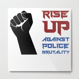 BLM Protest - Rise Up Metal Print