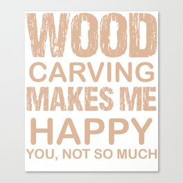 carving wood gift handicraft knife art Canvas Print