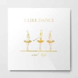 gold ballerinas . art Metal Print