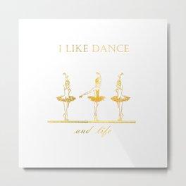 gold ballerinas . art Metal Print