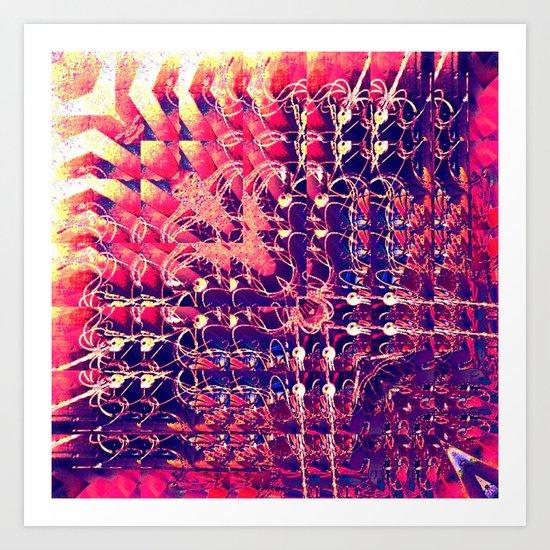 07-27-13 (Chandelier Glitch) Art Print