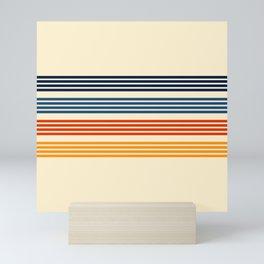 Kenshin - Classic Old School Retro Stripes Mini Art Print