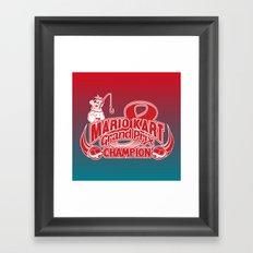 Mario Kart 8 Champion Framed Art Print
