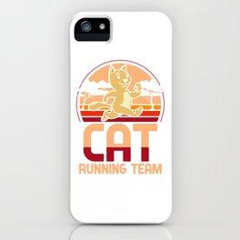 Cat running team - kittens, joggers iPhone Case