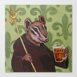 Chip Monk Beer Canvas Print