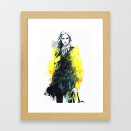In yellow. Framed Art Print