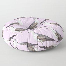 Seagulls on the Pink Floor Pillow