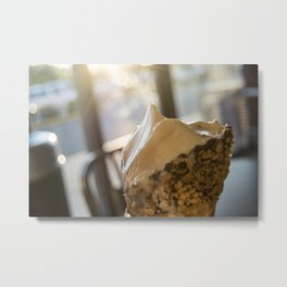 Butter Brickle Toffee Ice Cream Metal Print