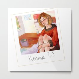 Kenma Cat Metal Print