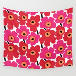 Marimekko classic red floral Wall Tapestry