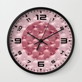 Opulent Tufted 4 Wall Clock