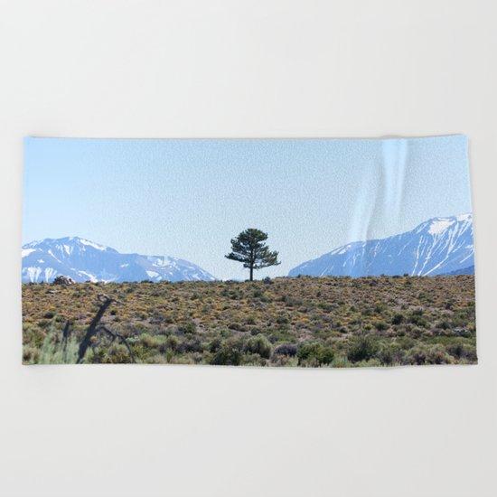 Resting Heart, Crowded Mind (Mono Lake Basin, California) Beach Towel
