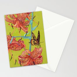 Tiger Lilies with Butterfly Stationery Cards