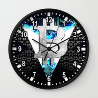 scotland Wall Clocks featuring bitcoin scotland by seb mcnulty