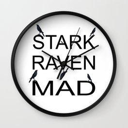 Stark Raven Mad Wall Clock