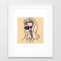 emily rickard Framed Art Prints featuring Emily by Nunyah Bidness