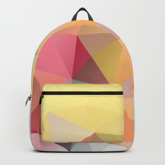 Polygon print bright colors Backpack