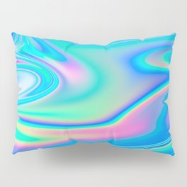 Holographic Iridescent Chill Vibes Pillow Sham