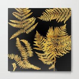 gold ferns Metal Print