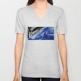 New Zealand Flag 2015 Unisex V-Neck