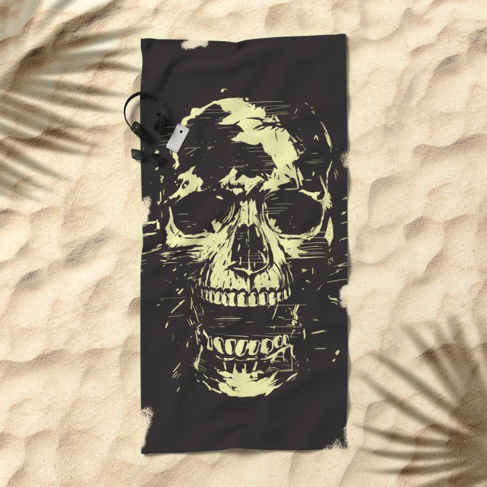 Scream (gold) Beach Towel