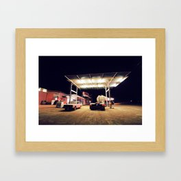 The Pink Roadhouse Framed Art Print