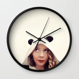 Panda Onesie Nomi Wall Clock