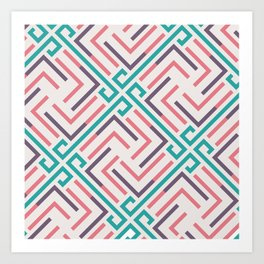 Pre-Columbian pattern Art Print
