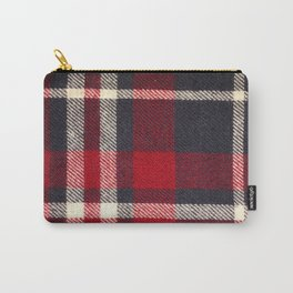 Red Flannel Pattern Carry-All Pouch